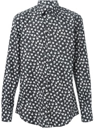 Dolce And Gabbana Floral Print Shirt Black
