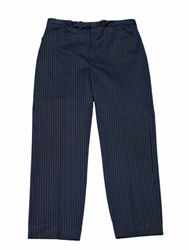 Vintage 1980S Navy Blue Striped Trousers Mens By Vintagemensgoods