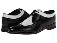 Stacy Adams Dayton Black White Men's Lace Up Wing Tip Shoes