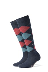 Burlington Knee High Virgin Wool Socks Multicolor