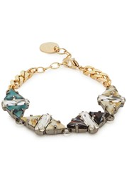 Anton Heunis Eudocia Gold Plated Triangle Chain Bracelet Multicoloured