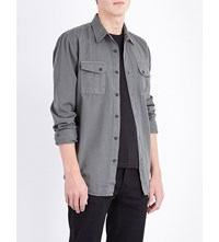 Nudie Jeans Gunnar Patches Cotton Shirt Lummer