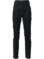 Julien David Woven Tapered Trousers Black