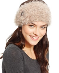 David And Young Fuzzy Feather And Stone Headwrap Dark Beige
