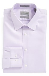 Men's Big And Tall John W. Nordstrom Trim Fit Non Iron Houndstooth Dress Shirt Lavender Mist