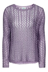Violet Loose Knit Jumper By Jovonna Purple