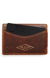 Rag And Bone Leather Money Clip Wallet Rust