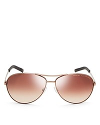 Marc By Marc Jacobs Mirrored Aviator Sunglasses Brown Brown Gradient