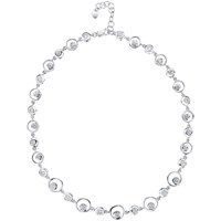 Jools By Jenny Brown Sterling Silver Circle Cubic Zirconia Necklace Silver