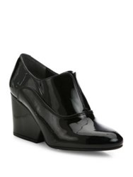 Robert Clergerie Trevor Patent Leather Wedge Oxfords Black