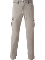 Eleventy Cargo Pocket Trousers Nude And Neutrals
