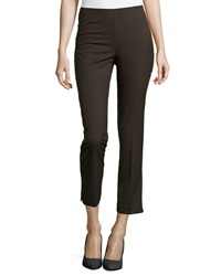 Neiman Marcus Lisa Ankle Dress Pants Brown