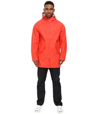 Converse Rubber Fishtail Parka Signal Red Men's Coat Multi