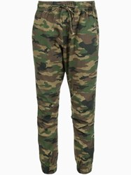 Nsf 'Sheera' Camouflage Track Pants Green