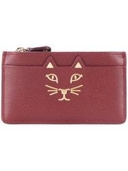 Charlotte Olympia 'Feline' Coin Purse Red