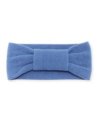 Portolano Cashmere Knotted Headband Winter Blue