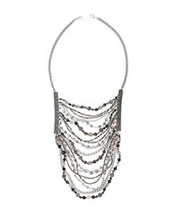 Chan Luu Multi Stone And Chain Bib Necklace