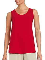 Jil Sander Solid Sleeveless Top Red