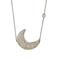Renee Lewis Women's Crescent Moon Pendant Necklace No Color