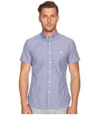 Todd Snyder Short Sleeve Mini Check Button Up Blue