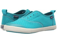 Sperry Sayel Clew Perf Canvas Turqoise Women's Shoes Blue