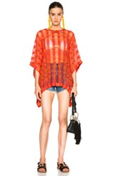 Missoni Mare Poncho In Metallics Red
