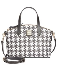 Dooney And Bourke Houndstooth Ruby Mini Satchel Black