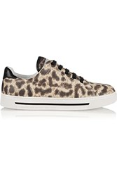 Marc By Marc Jacobs Leopard Print Snake Effect Leather Sneakers Animal Print