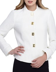Tahari By Arthur S. Levine Plus Turnlock Snap Front Jacket Cloud
