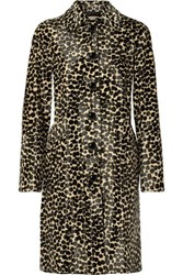 Michael Kors Collection Printed Calf Hair Coat Black