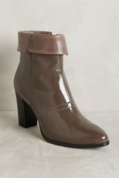 Anthropologie Alba Moda Foldover Booties Taupe