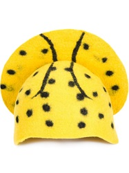Little Girl Granny Sheep Halo Detail Skull Cap Yellow And Orange
