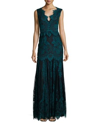 Erin Fetherston Joanna Cap Sleeve Lace Gown