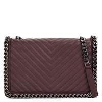 Aldo Greenwald Quilted Chain Handbag Bordeaux