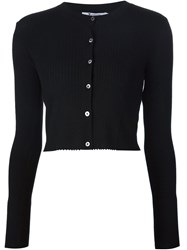 T By Alexander Wang Cropped Cardigan Black