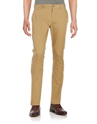 Original Penguin Slim Stretch Cotton Blend Pants Beige