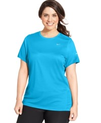 Nike Plus Size Dri Fit T Shirt Blue