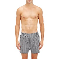 Barneys New York Men's Checked Boxers No Color