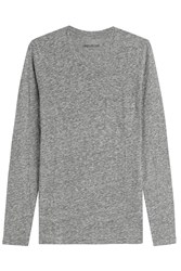 Zadig And Voltaire Toki Chine Cotton Blend Top Grey