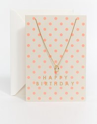 Orelia Happy Birthday Giftcard Gold