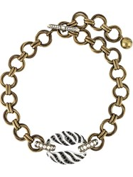 Lanvin Chunky Chain Necklace White