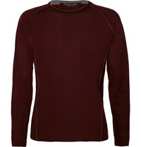 Loro Piana Virgin Wool Pique T Hirt Burgundy