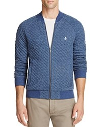 Original Penguin Quilted Zip Front Sweatshirt Dark Sapphire