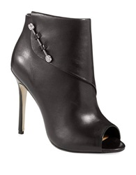Badgley Mischka Julesa Peep Toe Booties Black