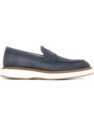 Hogan Rubber Sole Loafers Blue