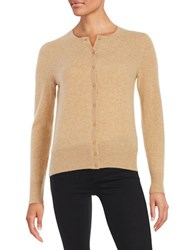 Lord And Taylor Cashmere Cardigan Classic Camel Heather