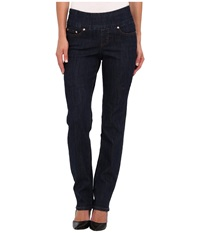 Jag Jeans Peri Pull On Straight In Dark Shadow Dark Shadow Women's Jeans Black