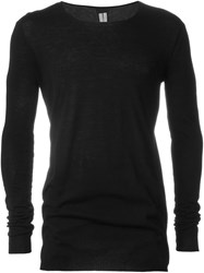 Rick Owens Crew Neck Sweater Black