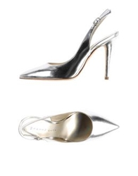 Martin Clay Pumps Silver