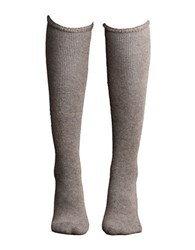 Lemon Wool Blend Knee High Socks Bark